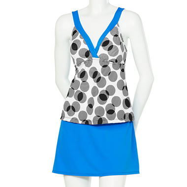 Twist Back Tankini with Skirt