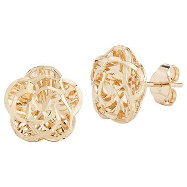 14k Yellow Gold Flower Stud Earrings Sam S Club