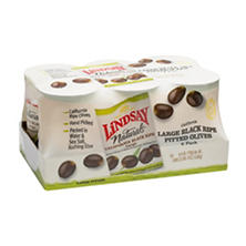 Lindsay Naturals Large Black Ripe Pitted Olives (6 oz., 6 pk.)