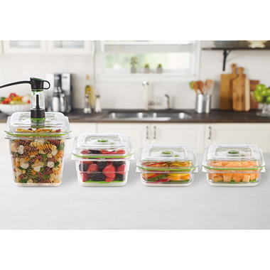 FoodSaver Fresh Containers with Bonus Produce Trays (Set of 4)