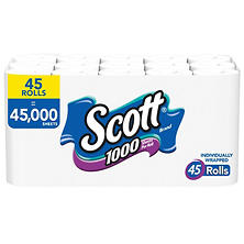 Scott 1000 Limited Edition Bath Tissue (1,000 sheets, 45 rolls)