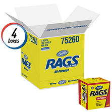 Scott Rags in a Box, 10 x 12, White (200/box, 8 boxes)