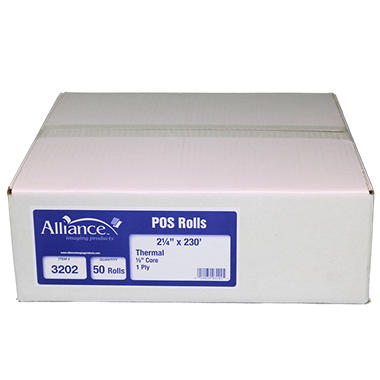 Alliance Thermal Paper Receipt Rolls, 2 1/4