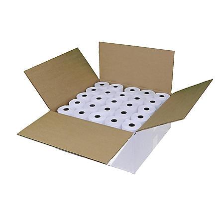 "Alliance Thermal Paper Receipt Rolls, 3 1/8"" x 230', White, 50 Rolls"
