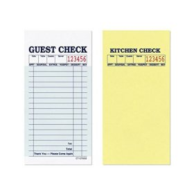 "Alliance 2-Part Guest Checks, 3.4"" x 6.73"", 17-lines, Green, 50 Checks, 50 Books"