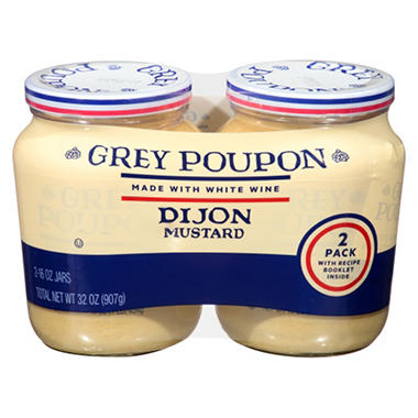Grey Poupon Dijon Mustard (16 oz., 2 pk.)