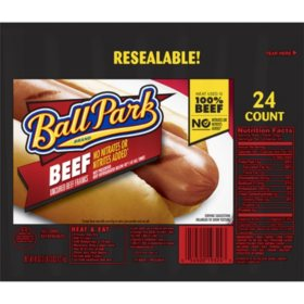 Ball Park Beef Franks (24 ct., 45 oz.)