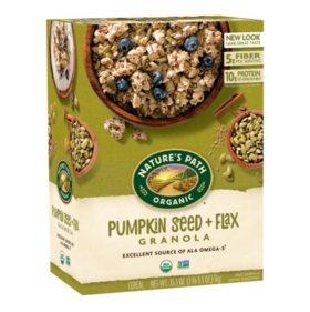 Nature's Path Organic Flax Plus Pumpkin Flax Granola (17.6 oz. box, 2 pk.)