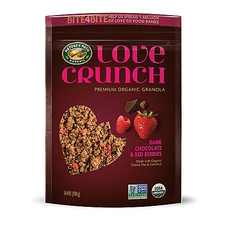 Nature's Path Love Crunch Dark Chocolate and Red Berries Granola (26.4 oz.)