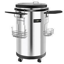 Igloo 60-Can Party Cooler, Stainless-Steel