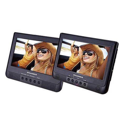 """Sylvania 10.1"""" Dual Screen Portable DVD Player"""