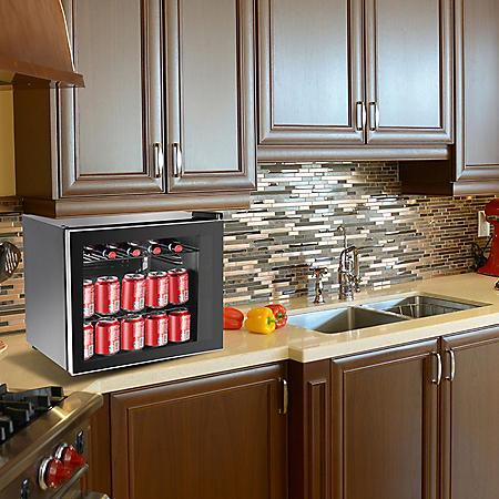 Frigidaire 1.6 cu. ft. Glass Door 70-Can Beverage Refrigerator