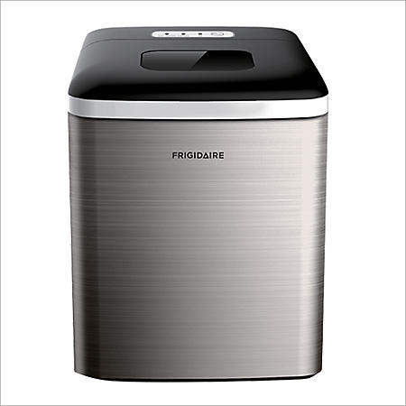 Frigidaire Stainless-Steel 26-lb. Bullet-Shaped Ice Maker