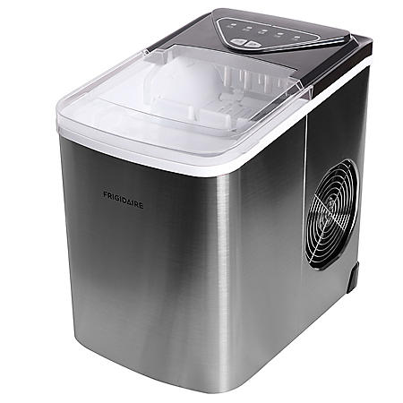 Frigidaire Stainless-Steel 26-lb. Bullet-Shaped Ice Maker  (Assorted Colors)