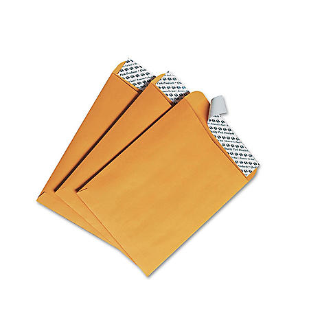 Quality Park - Redi-Strip Catalog Envelope, 6 x 9, Brown Kraft -  100/Box