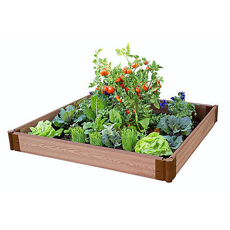 "Classic Sienna Raised Garden Bed 4' x 4' x 5.5"" - 1"" Profile"
