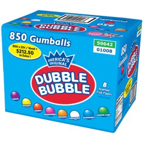 Dubble Bubble Fruit Gumballs (850 ct.)