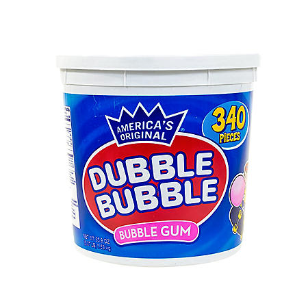 Dubble Bubble America's Original Bubble Gum Tub (340 pcs.)