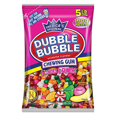 Dubble Bubble Chew Tabs Assorted (5 lbs.)