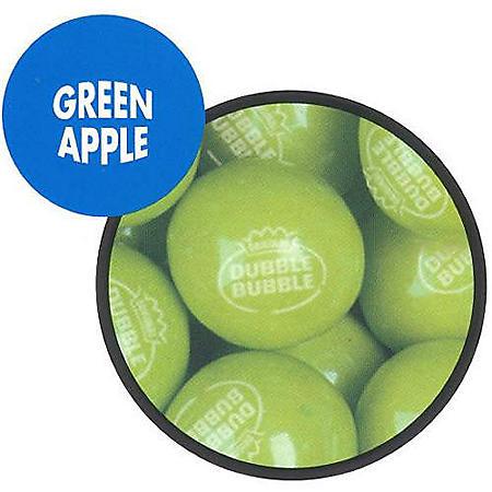 Dubble Bubble Green Apple Gumballs (23 mm., 1,080 ct.)