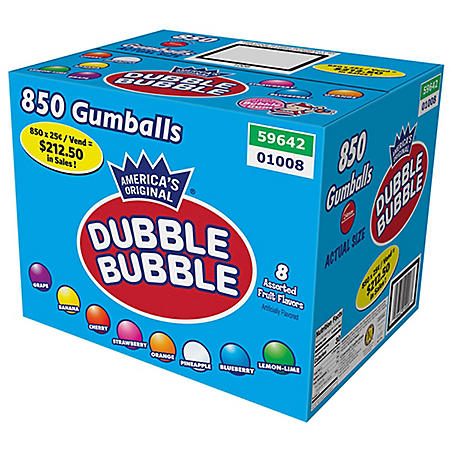Dubble Bubble Gumballs Assorted Fruit Flavors, Select Size
