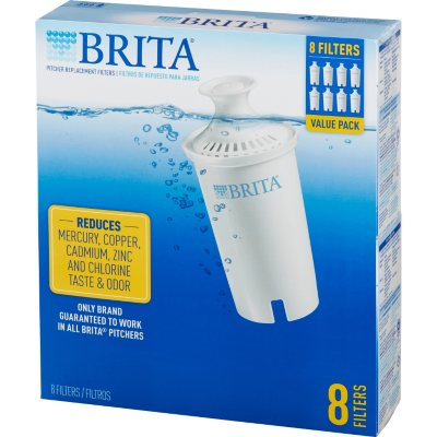 Brita Water Filter Pitcher Advanced Replacement Filters 8 ct