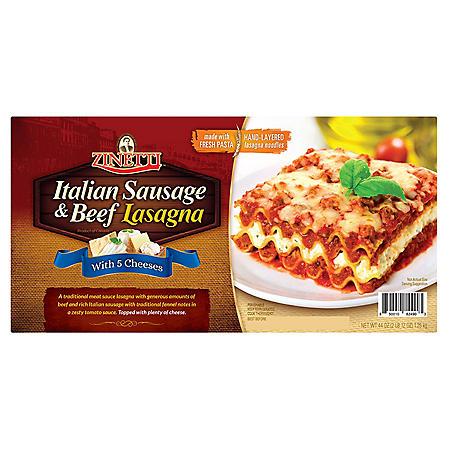 Zinetti Italian Sausage and Beef Lasagna (44 oz. tray)