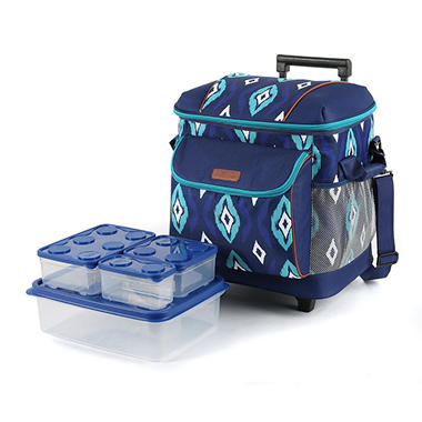 Arctic Zone Insulated Rolling Tote Assorted Colors Sam