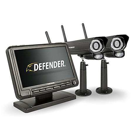 "Defender® PHOENIXM2 Digital Wireless Security System with 7"" LCD Monitor and 2 Long Range Night Vision Cameras"