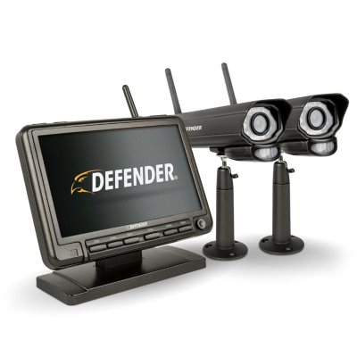 Defender® PHOENIXM2 Digital Wireless Security System With 7u201d LCD Monitor  And 2 Long Range