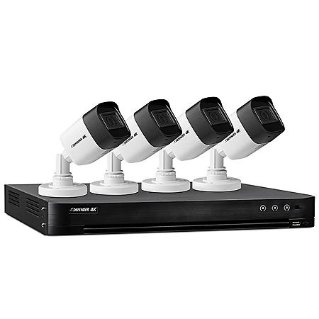 Defender Ultra HD 4K (8MP) 1TB Wired Security System with 4 Night Vision Cameras