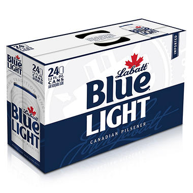 Labatt Blue Light Beer (12 oz. cans, 24 pk.)