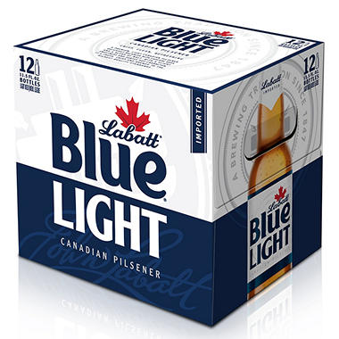 Labatt Blue Light Beer (11.5 fl. oz. bottle, 12 pk.)