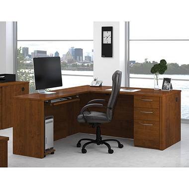 Bestar Embassy OfficePro 60000 L-Shaped desk, Select Color