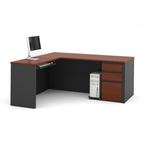 Bestar Prestige + OfficePro 99000 3-Drawer L-Shaped Desk (Various Colors)