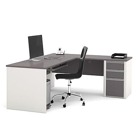 Bestar Connexion OfficePro 93000 3-Drawer L-Shaped Desk, Select Color