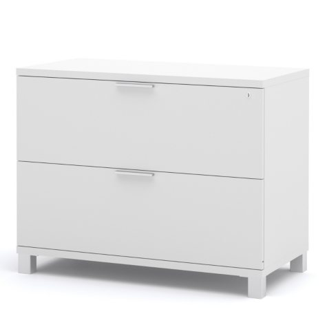 "Bestar Pro-Linea OfficePro 120000 36"" Assembled Lateral File, White"