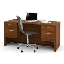 Bestar Embassy OfficePro 60000 Executive Desk, Tuscany Borwn
