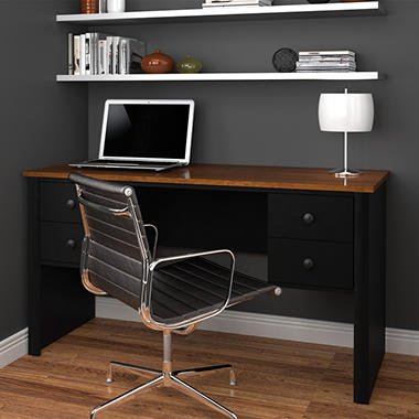 Bestar Somerville HomePro 45000 Workstation, Black/Tuscany Brown