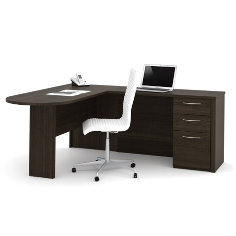 Bestar Embassy OfficePro 60000 L-Shaped Desk, Select Color