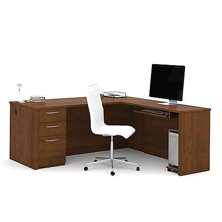 "Bestar Embassy OfficePro 60000 71"" L-Shaped Desk, Select Color"