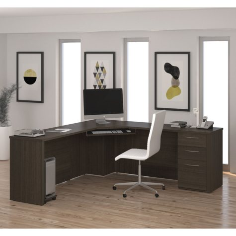 Bestar Embassy OfficePro 60000 Corner Desk, Select Color