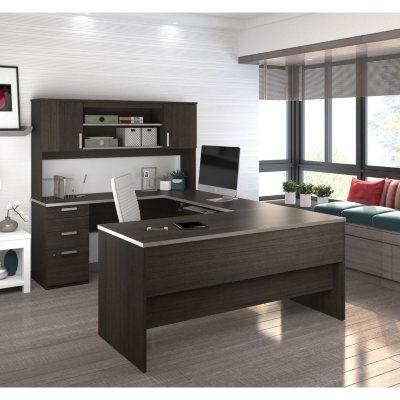 Bestar Ridgeley U Shaped Desk, Select Color