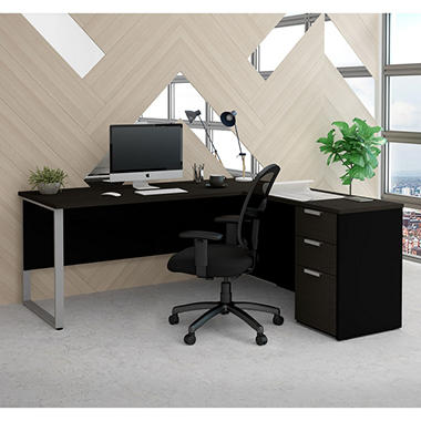 Bestar Pro-Concept  Plus L-Desk with Metal Leg, Select Color