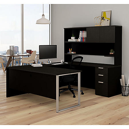 Bestar Pro-Concept  Plus U-Desk with Hutch, Select Color