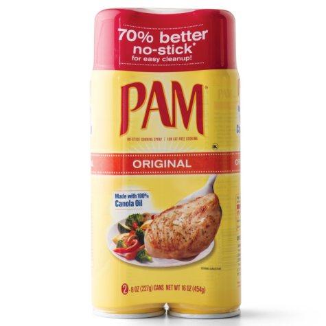 PAM No-Stick Cooking Spray (8 oz. can, 2 pk.)