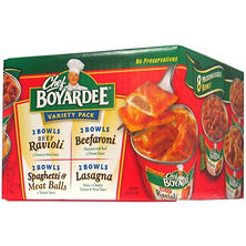 Chef Boyardee Microwaveable Pasta Variety Pack (7.5 oz. ea., 8 ct.)