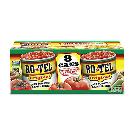 Ro-Tel Diced Tomatoes & Green Chilies (10 oz., 8 ct.)