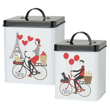Now Designs Tour de Paris Storage Tins, Set of 2