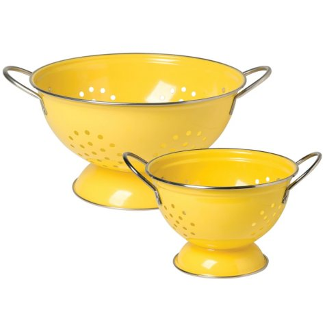 Now Designs Colander, 2 Pack (Assorted Colors)